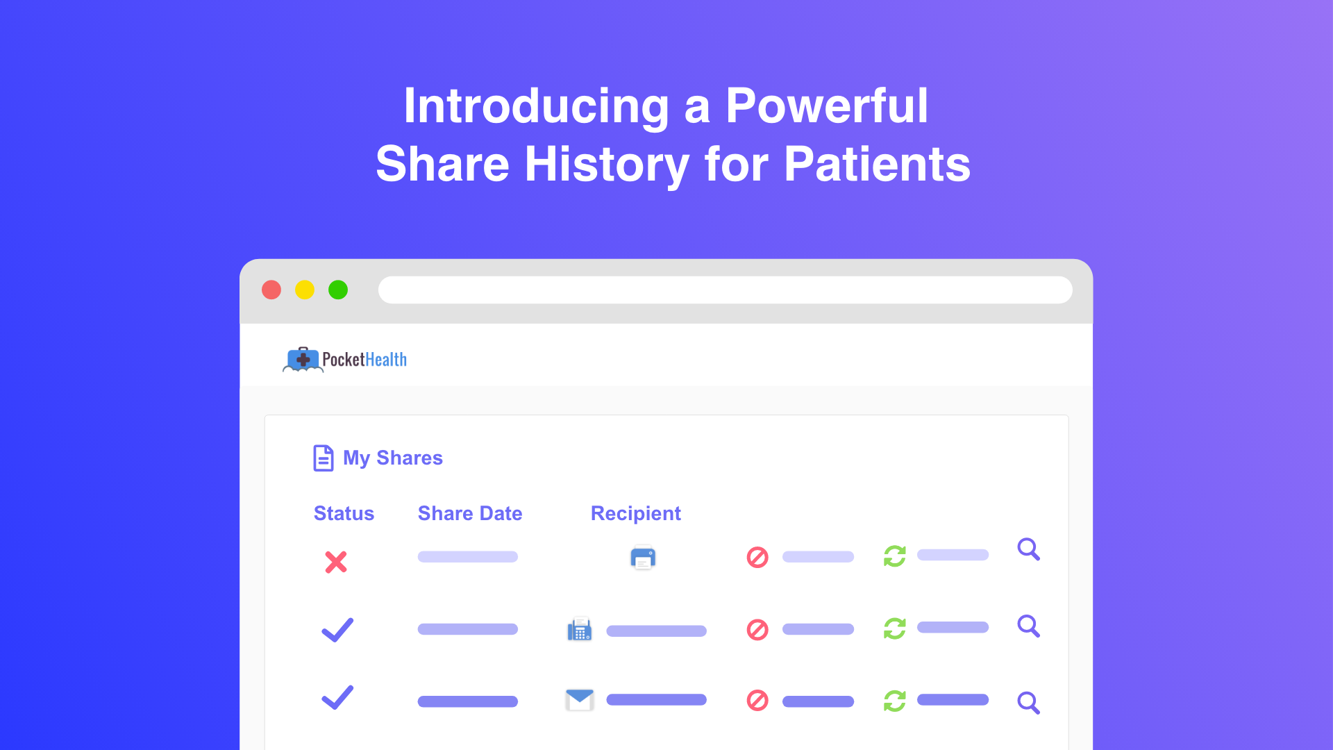 Robust Share History Empowers Patients to Instant Audit, Revoke or Resend any Past Share