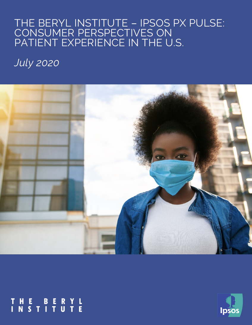 Cover of Beryl Institute report Consumer Perspectives on Patient Experience in the US